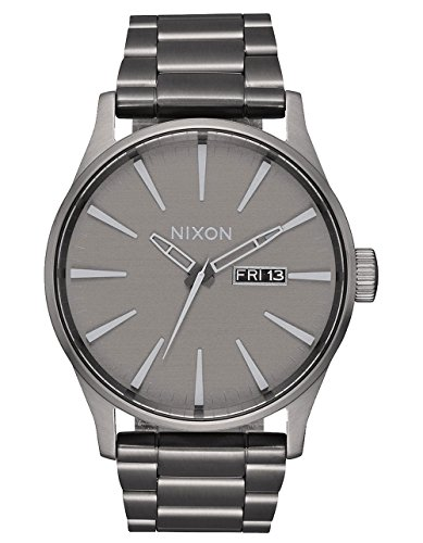 Nixon Men's Sentry SS Japanese-Quartz Watch with Stainless-Steel Strap, Multi, 20 (Model: A3562090
