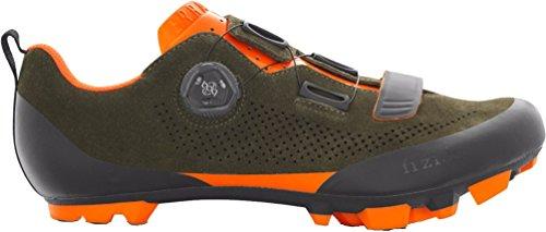 Fizik X5 Terra Suede Military Orange Fluo Cycling Footwear, Green, Size (Bike Footwear)