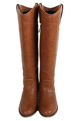 Breckelles Rider-18 Womens Classic Knee High Riding Boots Premium Tan epqUY8