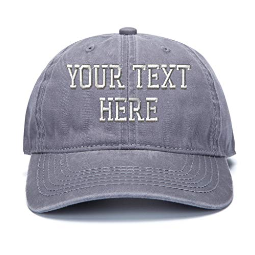 Custom Baseball Hat, Embroidered. Unisex Vintage Curved Bill Dad Cap Personalize - Embroidered Wool Hat