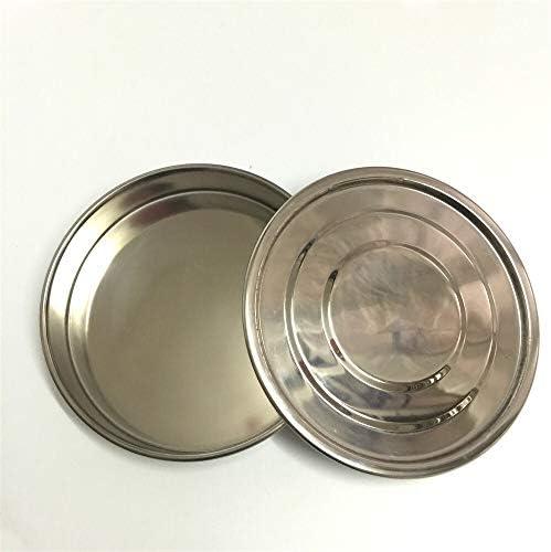 Wang shufang WSF-Strainer, 1set Deckel und Boden for Test Sieve Dia 20cm 304 SUS Deckel und Behälter for das Labor Probenahme Inspektion Pharmacopeia Sieve