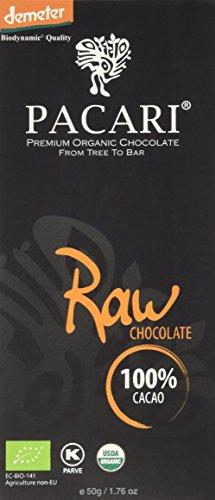 PACARI ECUADORIAN ORGANIC CHOCOLATE Raw 100%, 50-Gram Boxes (Pack of 5)