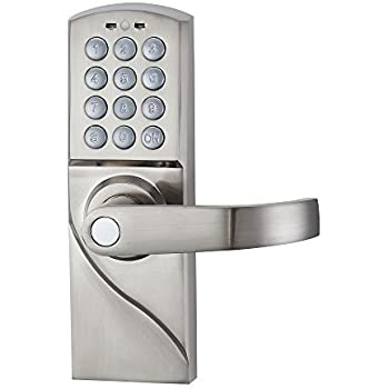 haifuan right hand digital keypad door lock with backup keys electronic keyless entry by password code combination