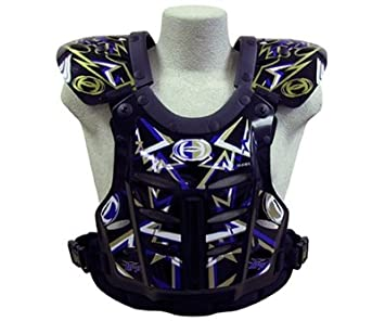 HRP Flak Jak Kids Chest Protector peewee 50-95 lbs Blue//green SilverMade in USA