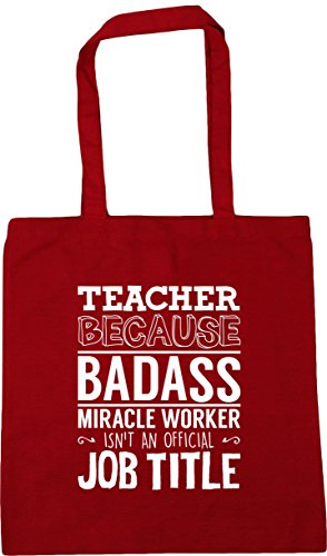 job x38cm worker Tote badass litres HippoWarehouse title official Beach Shopping miracle Red Classic isn't an 10 because Teacher Gym 42cm Bag vaIwxqI48
