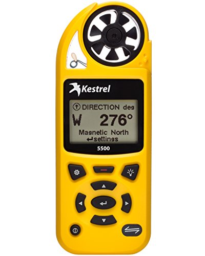 Kestrel 0855YEL 5500 Pocket Weather Meter, 5.1' Height, 1' Wide, 1.9' Length, Yellow by Kestrel