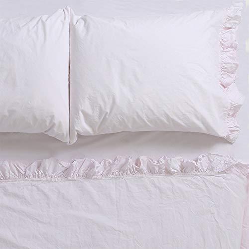 (Rachel Ashwell Liliput Ruffle Flat Sheet Queen, Pink)