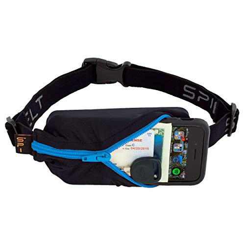SPIbelt Sports/Running Belt: Original - No-Bounce Running Belt for Runners, Athletes and Adventurers - Fits iPhone 6 and Other Large Phones, Turquoise Zipper