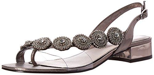 Adrianna Papell Women's Daisy Flat Sandal, Gunmetal, 9M US