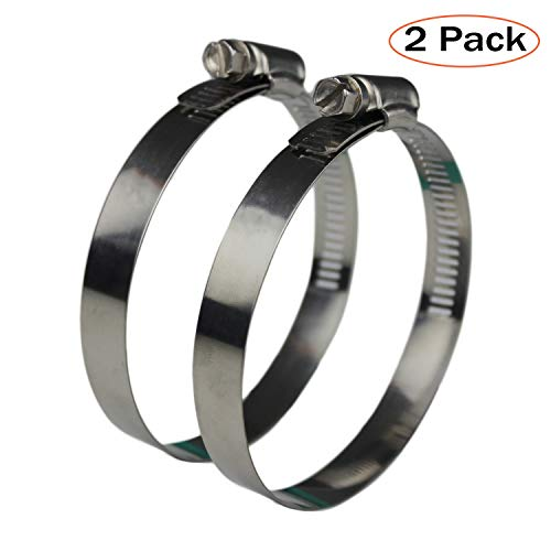 (Ronteix Flexible Worm Gear Hose Clamp Full 304 Stainless Steel Clamps (60-83mm) )