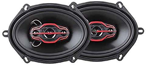 Dual Electronics DLS574 4-Way (6 x 8) or (5 x 7) inch Car Speakers with 160 Watt Power & 35mm Mylar Balanced Dome (8 Inch Boss Speakers)