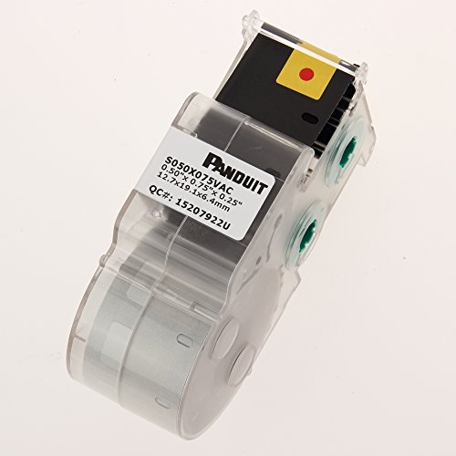 Panduit S050X150VAC P1 Cassette Self-Laminated Label, Vinyl, White by Panduit (Image #1)