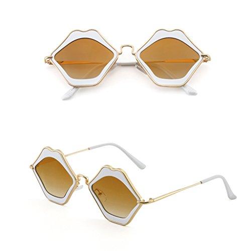 Jaune Le Soleil New De Couleur Rouge Personnalité Sunglasses Lunettes WANGXIAOLIN Lips Sunglasses De x4BnPSPq7w