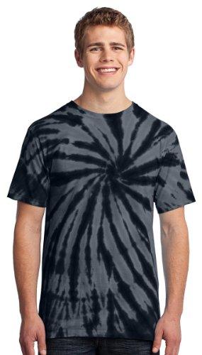 Port & Company Men's Colorful Tie-Dye Crewneck T-Shirt_Black_XL