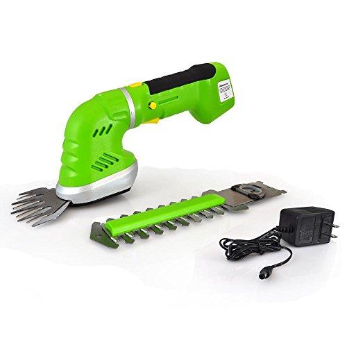 Serenelife pslgr14 cordless handheld grass cutter shears for Electric hand garden shears