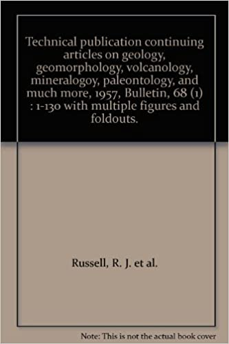 Technical publication continuing articles on geology,