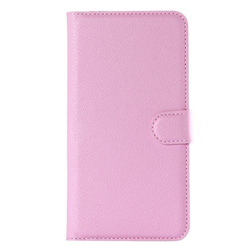 Fashion & personality Para la galaxia A7 (2016) / A710 de Samsung galga la caja horizontal del cuero del tirón de la textura con el sostenedor y las ranuras para tarjeta y la carpeta ( Color : Green ) Pink