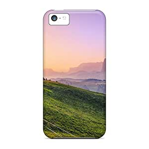 Durable Beautiful Sunrise Over Valley Back Case/cover For Iphone 5c