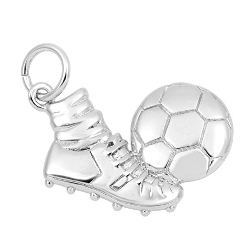 Soccer Anklet (Necklace & Bracelet Charms, Sports & Fitness Theme Sterling Silver Jewelry by Silver on the Rocks)