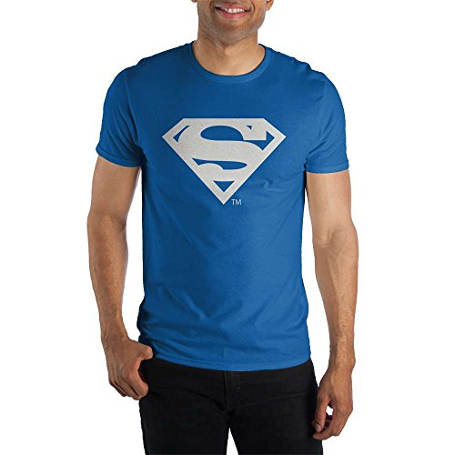 DC Comics Superman Classic Logo Men's Royal Blue T-shirt (Med.) ()