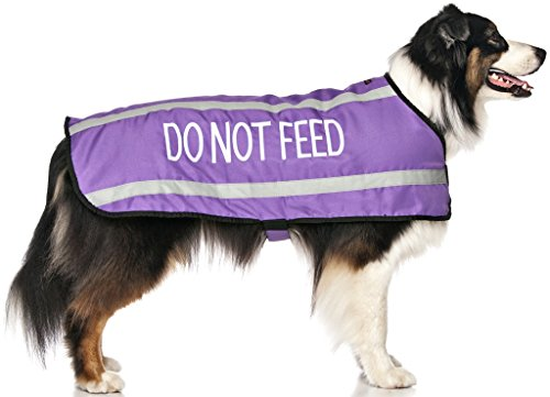 Dexil Limited Do Not Feed Purple Warm Dog Coats S-M M-L L-XL Waterproof Reflective Fleece Lined (May Have Allergies/Diet…