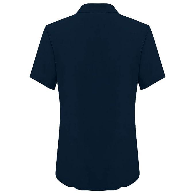 Clacce - Camiseta básica de Manga Corta para Mujer, Cuello en V ...
