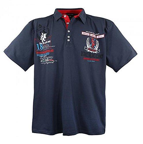 Übergrössen !!! WOW !!! Hippes Polo-Shirt Kurzarm LAVECCHIA Anthrazit 6XL