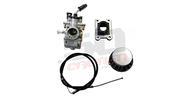 521974a9e47aa KTM 50cc Pit Bikes Replacement Carburetor Intake Filter Throttle Cable - Kit  Includes 19mm Replacement Carburetor