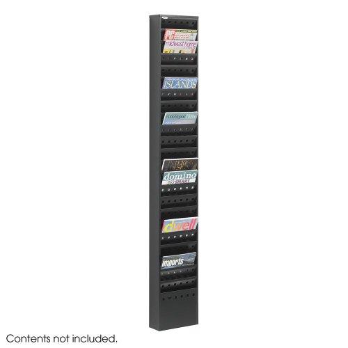 Wholesale CASE of 2 - Safco 23-Pocket Steel Magazine Rack-Magazine Rack, 23 Pockets, Steel, 10
