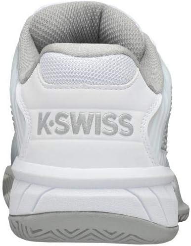 K-Swiss Womens Hypercourt Express 2 Tennis Shoe White//High-Rise//Silver, 6