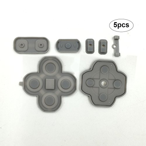Zhuhaitf Replacement Rubber Conductive Buttons 1/2/5 Set Contact Pad Kit for Nintend New 3DS XL LL