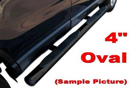 "MaxMate Premium Custom Fit 07-15 Toyota Tundra Crew Max Cab Black 4"" Straight Side Step Rails Nerf Bars Running Boards(2pcs with Mounting Bracket Kit)"
