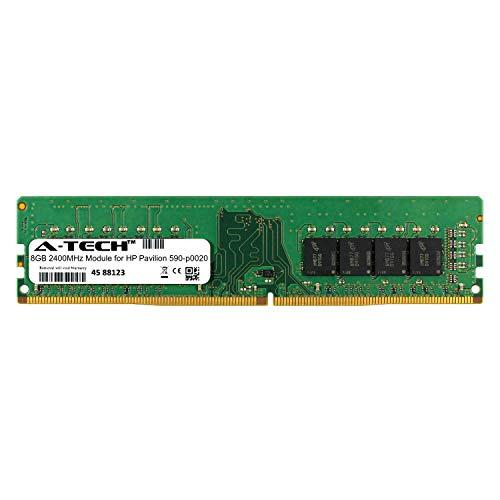 A-Tech 8GB Module for HP Pavilion 590-p0020 Desktop & Workstation Motherboard Compatible DDR4 2400Mhz Memory Ram (ATMS311271A25820X1)