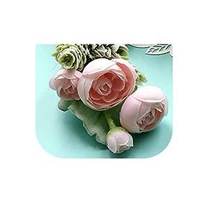 loveinfinite DIY Bride Boutonnieres Corsages Hand Flores Silk Wrist Flower Yellow Wedding Bouquet for Bridesmaid Decor Pin Rose Wrist Flowers,1 1