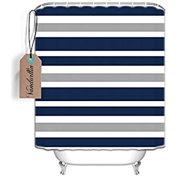 Amazon.com: Vandarllin?TM) Designs Navy Blue, Gray and White Kids ...