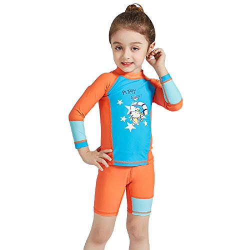 CapsA Short Sleeve Wetsuit Girls Boys UV Protection Diving Surfing Jumpsuit Swimsuit Red