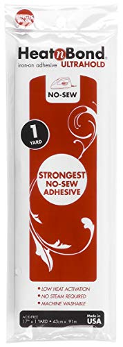 (HeatnBond UltraHold Iron-On Adhesive, 17 Inches x 1 Yard)