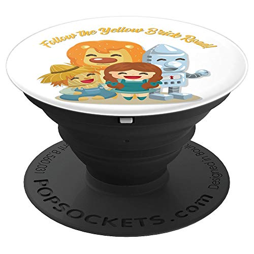 Wizard of Oz Phone Accessory Follow the Yellow Brick Road - PopSockets Grip and Stand for Phones and Tablets