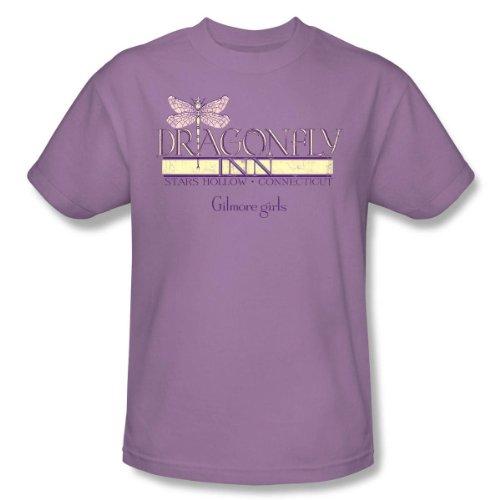 Warner Bros. Men's Gilmore Girls Dragonfly Inn T-Shirt Large Lavender