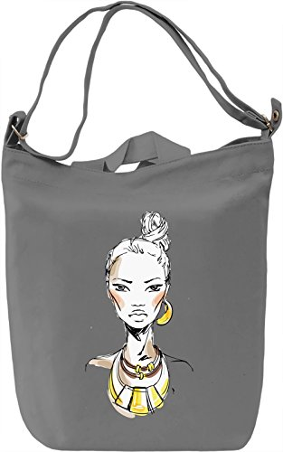 Girl With The Necklace Borsa Giornaliera Canvas Canvas Day Bag| 100% Premium Cotton Canvas| DTG Printing|
