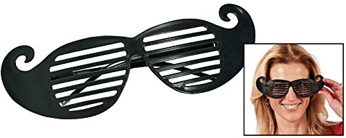 Mustache Shutter Shading Glasses (12 Pack) 8 1/2