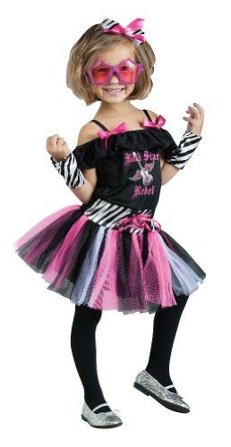 Rock Star Rebel Costume - 80s Girl's Costume WB (3T-4T with Bracelet for Mom)
