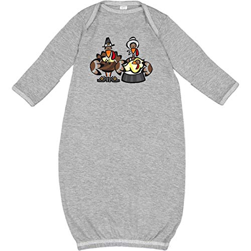 inktastic - Mr. and Mrs. Tom Turkey Newborn Layette Heather 236