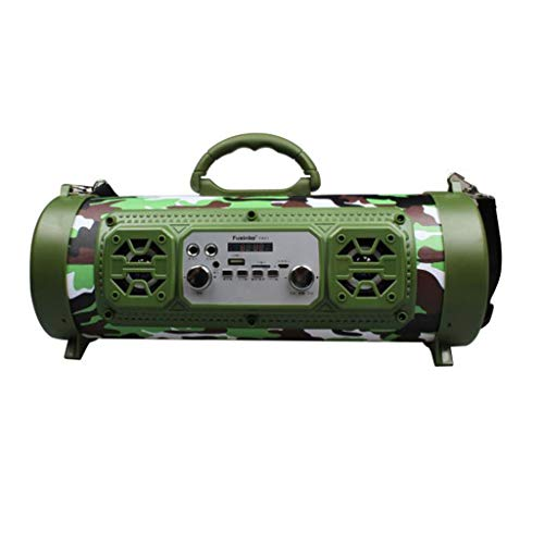 AHAYAKU Outdoor Portable Bluetooth Speaker Subwoofer Multifunction Card Microphone Sound