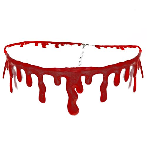 Great Last Minute Homemade Halloween Costumes (Dripping Blood Halloween Party Choker Necklace Vampire Costume)