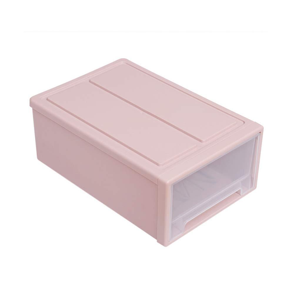 Stapelbare Box Truhe Kunststoff transparente Schublade Einheit Organizer Kleiderschrank Badezimmer Aufbewahrungsboxen stapeln