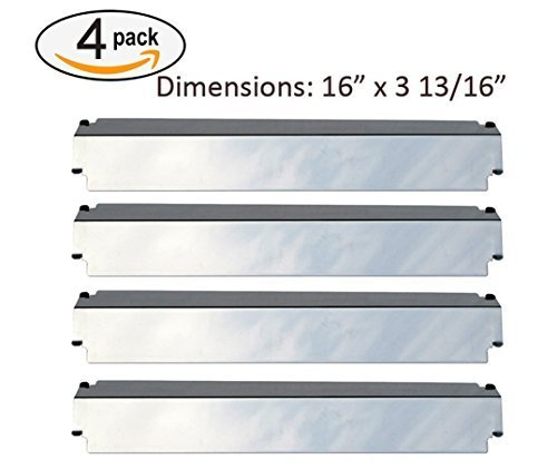 - SH3321 (4-pack) Stainless Steel Heat Plate, Heat Shield, Heat Tent, Burner Cover Replacement for Select Gas Grill Models by Charbroil, Thermos, Kenmore Sears, Lowes Model Grills and Others