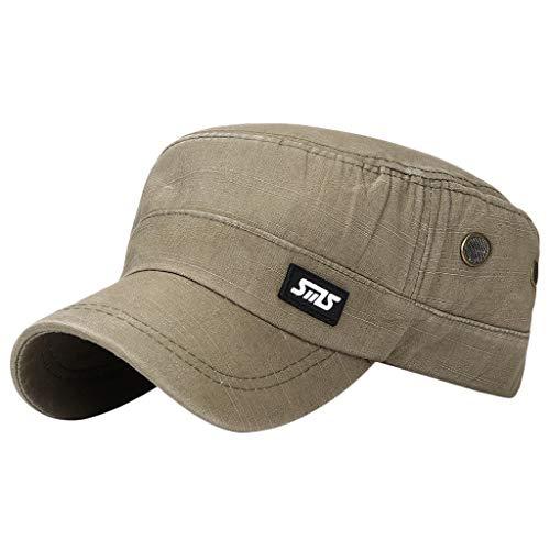 - FEDULK Unisex Military Hat Retro Plain Flat Top Baseball Cap Adjustable Men Women Cadet Sport Sun Hat(Army Green)