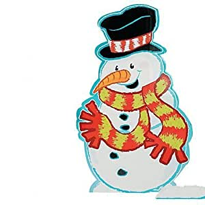 Snowman with Scarf Stand-Up 2 pack