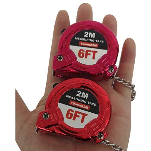 Yu2d  Retractable Ruler Tape Measure Key Chain Mini Pocket Size Metric 2 Meters(Purple) ()